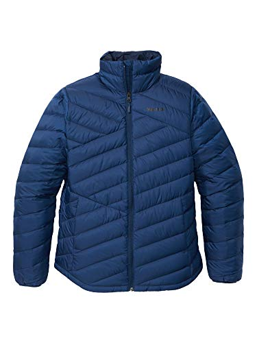 Marmot Damen Ultra-leichte Daunenjacke, 700 Fill-Power, Warme Outdoorjacke, Wasserabweisend, Winddicht Wm's Highlander Jacket, Arctic Navy, XL, 79370