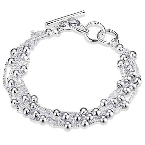 Underleaf Armband für Frauen Schmuck Sechs Quasten Perlen Einfache Spezialmarke Geschenk Charme Fußkettchen Geflochtener Strand Netter Freundschaftsfußschmuck für Frauen Teen Girls