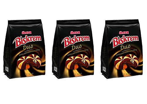 Ulker Biskrem Duo Galletas con relleno de crema de cacao (3 unidades, total de 450 g)