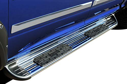 Raptor Series 1303-0366 7 inch Stainless Running Boards Side Steps for SuperCrew Cab 15-21 Ford F-150 17-21 Ford F-250/F-350 Super Duty
