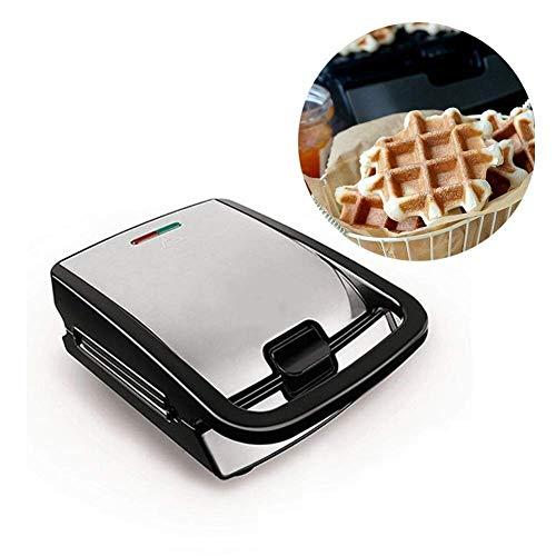 SEESEE.U Gaufrier 4 en 1 Gaufrier Sandwich Toaster Maker Plaques Amovibles antiadhésives, Voyants LED Rouge et Vert, Contrôle Automatique de la température Gaufrier plaques Amovibles