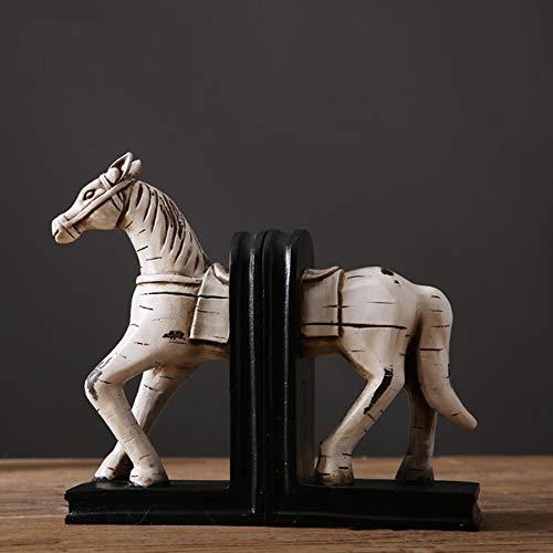 Yinghuawen Retro Ställe der amerikanischen dekorativen Buchstützen buchen durch Schreibtisch-Schreibtischgeschenk-Buchstützen - verhindern Sie, DASS Bücher Fallen