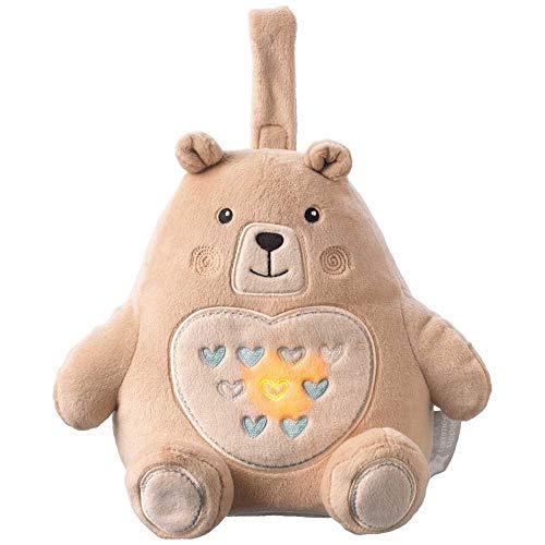 Tommee Tippee Grofriend, Wideraufladbare Einschlafhilfe für Babys, Musikalischer Plüsch, Berühigende Geräusche und Weißes Rauschen, CrySensor Technologie und Nachtlicht, Bennie der Bär