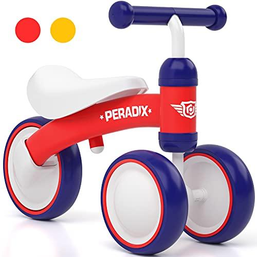 Peradix Bicicleta sin Pedales, Adecuado para Bebés de 1,2,3 años, Juguetes Triciclos Bebes y Niño,Correpasillos Bebe,Bici sin Pedales Niña y Niño (Rojo)