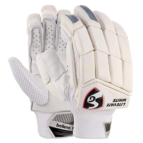 SG Cricket Litevate White RH Batting Gloves Adult