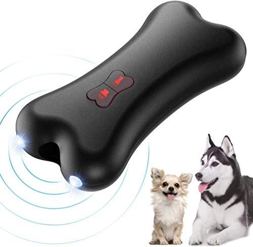 Petacc Anti-Bell Halsband Hund, Anti-Bell-Gerät für Hunde, Ultraschall für Hunde, Handheld Trainingsgerät für Hunde im Freien, 5 Meter Regelbereich Wiederaufladbarer mit LED-Licht