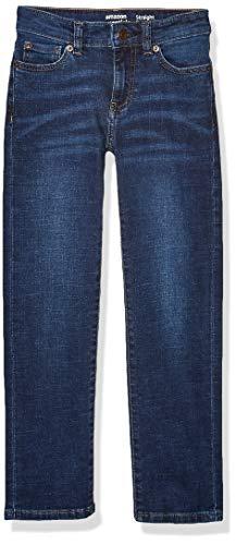 Amazon Essentials Big Boys' Straight-Fit Jeans, Kumo Dark Wash, 12S