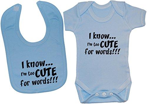 Acce Products - Body - Uni - Manches Courtes - Bébé (fille) 0 à 24 mois - Bleu - XXXS