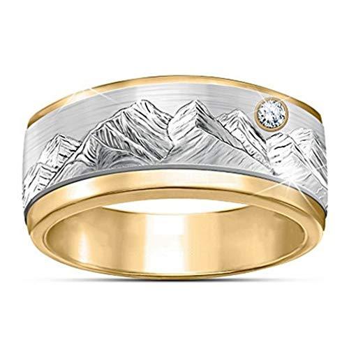 #N/A Qihang Anillo de carburo ancho para hombre, anillo de boda de diamantes sintéticos, accesorios de joyería de regalo para novio, 11