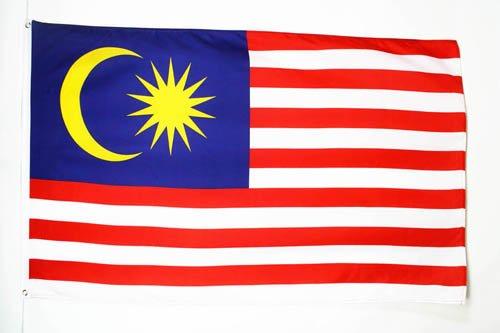 AZ FLAG Flagge Malaysia 150x90cm - Malaysia Fahne 90 x 150 cm feiner Polyester - flaggen