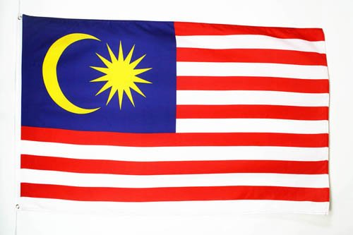 AZ FLAG Flagge Malaysia 90x60cm - Malaysia Fahne 60 x 90 cm - flaggen Top Qualität