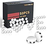 TRYMAG Magnets, 50 PCS Small Refrigerator Magnets Round Disc Magnets, Premium Brushed Nickel Cylinder Office Magnets for Crafts, DIY, Whiteboard and Fridge Magnets