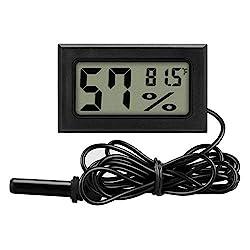 Mini LCD Digital Noir Thermomètre Réfrigérateur Congélateur sonde Pet Cage Réservoir Câble 95 cm