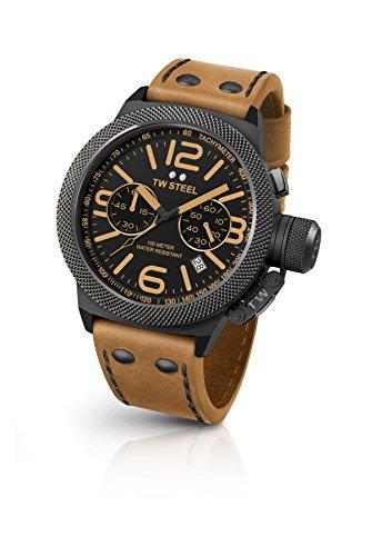 TW Steel Reloj Cronógrafo para Unisex de Cuarzo con Correa en Cuero CS43