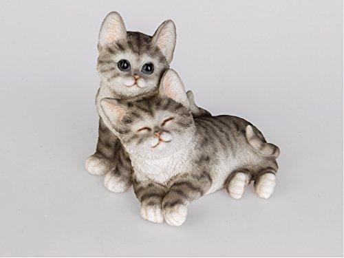 Katze Katzen Paar Deko Garten Tier Figur Skulptur Katzenfigur Dekofigur Statue