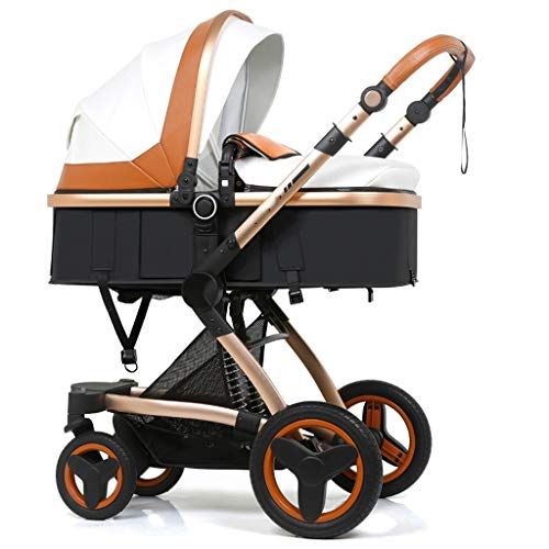 Best Prices! High Landscape Baby Stroller Basket can Sit Reclining Folding Two-Way Shock Newborn Bab...