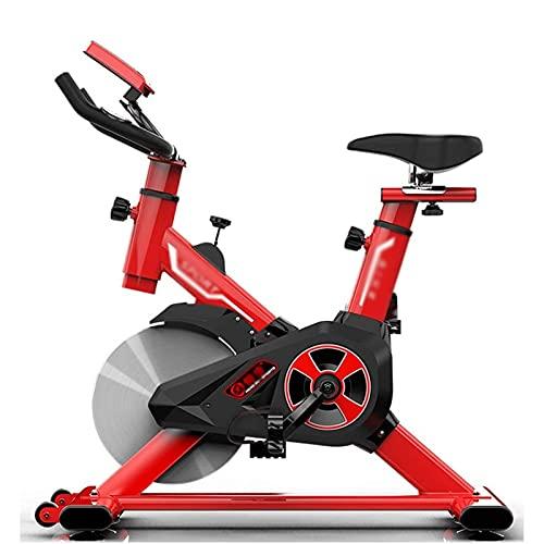 DJDLLZY Bicicleta estática, Ciclismo Indoor Bicicleta estacionaria, cómodo cojín del Asiento, Manillar y Asiento Ajustables, Volante Pesada, Pantalla LED, Aerobic y Fitness Equipment