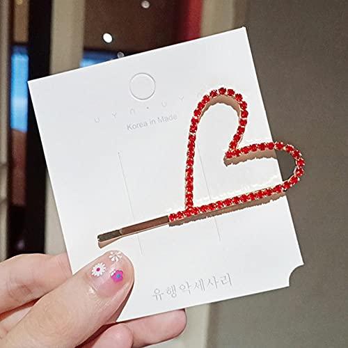 Haarklammern Mode Glänzende Kristall Herzform Haarspange Für Frauen Mädchen Einfache Süße Glänzende Strass Niedliche Haarschmuck Stirnband Haarspangen