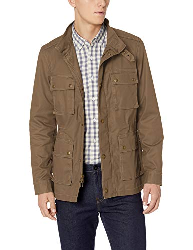 Marca Amazon - Goodthreads: chaqueta motera para hombre, Marrón (Brown), US M (EU M)