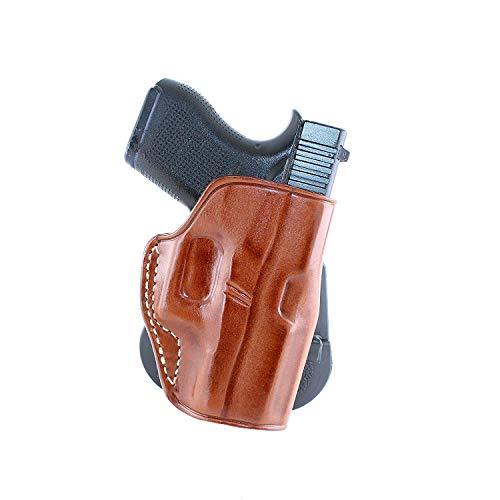 MASC Premium Leather OWB Paddle Holster Open Top Fits Glockk...