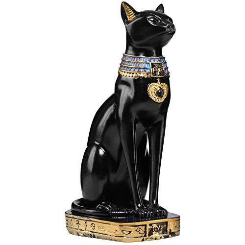 MyGift 9-Inch Resin Egyptian Goddess Cat Decorative Statue