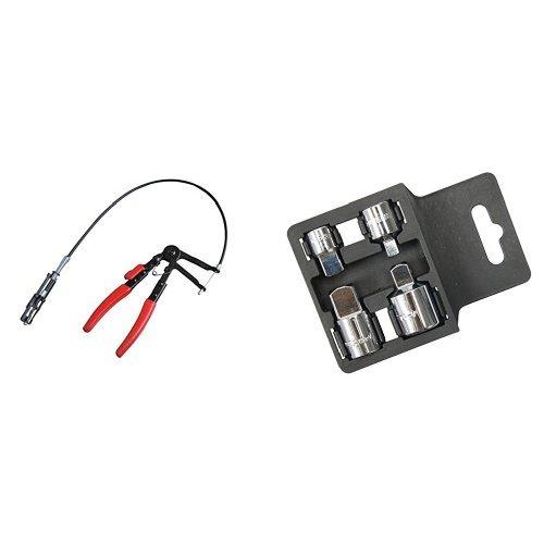 JBM 51995 Pince Universelle pour Bride Collier Autoserrant avec Câble Ouverture, 630 mm et Silverline 793755 Jeu d'augmentateurs et réducteurs 4 pièces