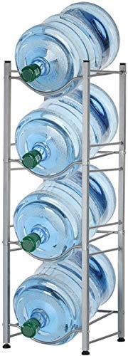 MAQRLT 4-Tier-Wasserflaschenhalter Regal Cooler Jug Ständer, abnehmbare Heavy Duty Wasserflasche Cabby Ständer, 5 Gallonen-Wasser-Flaschen-Speicher-Rack