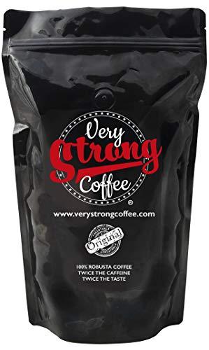Very Strong Coffee 250g - Ground Beans - 100% ROBUSTA COFFEE - TWICE THE CAFFEINE - TWICE THE TASTE.