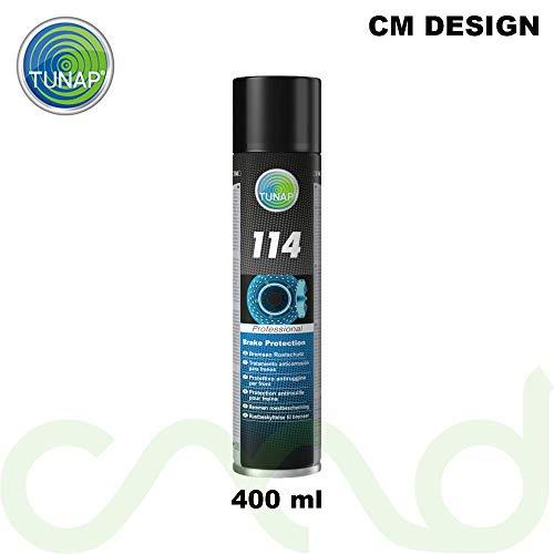 CM DESIGN TUNAP 114 Bremsen Rostschutz 400 ml Bei rostigen Bremsscheiben & Bremssattel auftragen