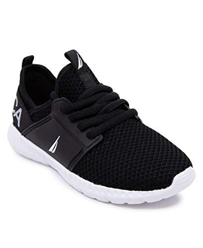 Nautica Zapatillas de deporte con cordones para hombre, estilo casual, para caminar, ligeras, negro (Negro Rainey 2), 43 EU