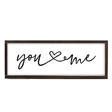ReLive Decorative Expressions Painted Wooden Farmhouse Sign (You and Me, 8x24)