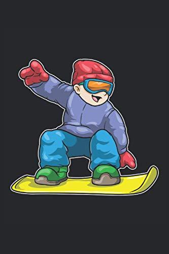 Notizbuch, 120 Seiten: Snowboarder - Geschenke - Snowboard Notizbuch - Tagebuch für Frauen, Männer und Kinder - 6x9 Zoll (Ähnlich DIN A5) - Kariert
