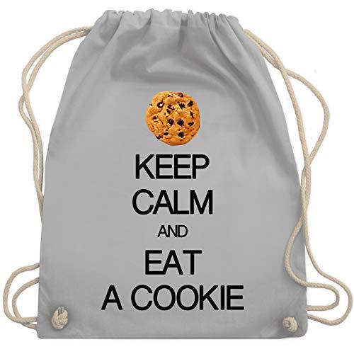 Shirtracer Keep calm - Keep calm and eat a cookie - Unisize - Hellgrau - keep calm and eat a cookie - WM110 - Turnbeutel und Stoffbeutel aus Baumwolle