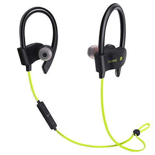 Preisvergleich Produktbild Xshuai Mobiltelefonzubehör Drahtloser Bluetooth-Kopfhörer Kopfhörer Sport Sweatproof Stereo-Ohrhörer Kopfhörer (Grün)