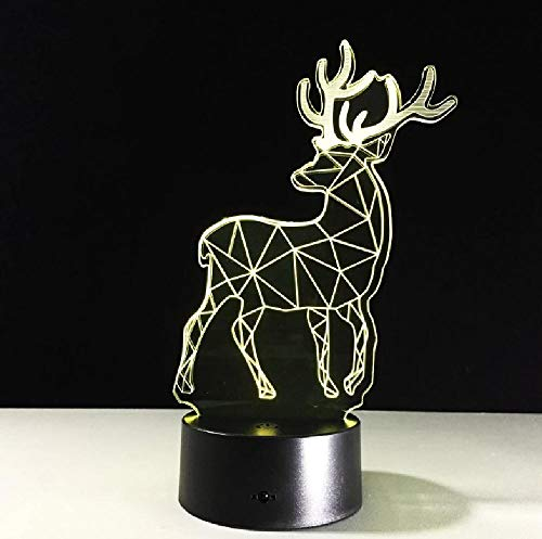 Regalo de Navidad Led 3D lámpara de noche Lampe De Chevet De Chambre lámpara de noche regalos creativos para día de San Valentín niños lámpara dormitorio