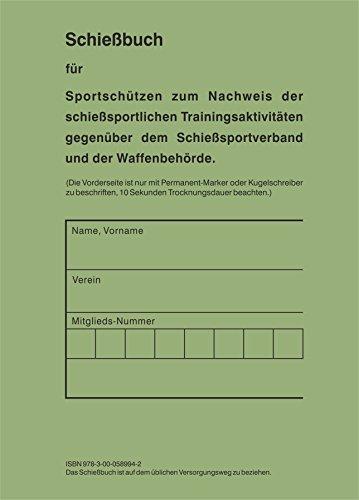 Schießbuch für Sportschützen und Behörden - BW Style