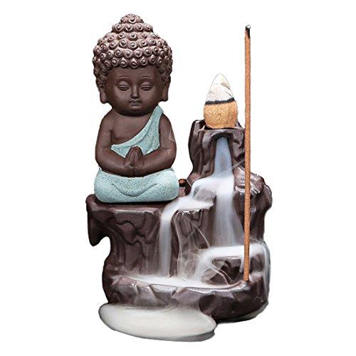 Quemador de incienso de reflujo, de cerámica, con 10 varill