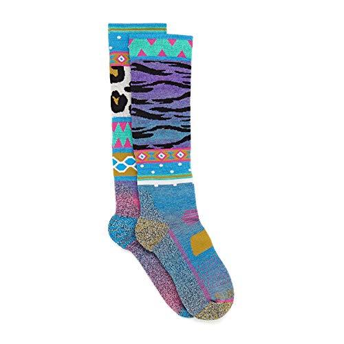 Burton W Performance Midweight Sock Bunt, Damen Merino Ski- und Snowboardsocken, Größe M/L - Farbe Wildstyle