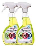 Kaiser-Rein Höllenfürst Detergente per cerchioni, 2 x 0,5 L (= 1 l), privo di acidi, detergente per cerchioni in alluminio, per auto, camion, la cura perfetta per tutti i cerchioni.