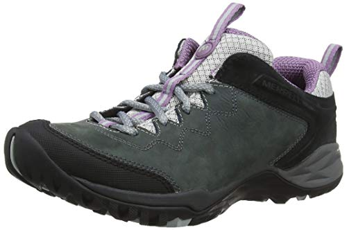 Merrell Damen Siren Traveller Q2 Leather Trekking- & Wanderhalbschuhe, Grau (Castle/Grape), 40 EU