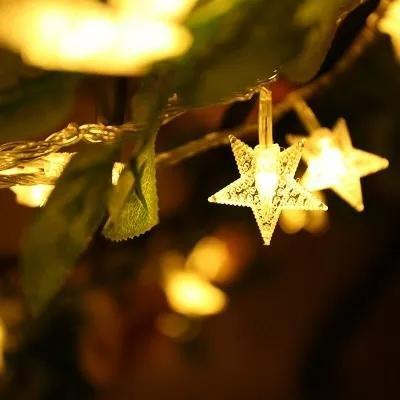SZ 5M 40 LED String Light Star Shape Holiday Garden Party Wedding Decoration Teen Girls,Dorm Room Essentials for Girls Decor,Fairy String Lights,Party Birthday Christmas Decorations