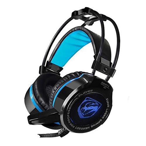 Marxways G2 Gaming Headset für PC, PS4, USB Wired Gaming Headphones mit 7.1 Surround Sound, Rauschunterdrückungsmikrofon und RGB Light, 50 mm Treiber, kompatibel mit Mac, Desktop, Laptop