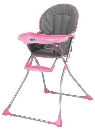Babidéal 27024140 - Highchair,  Hochstuhl mit Tisch,  Grey pink