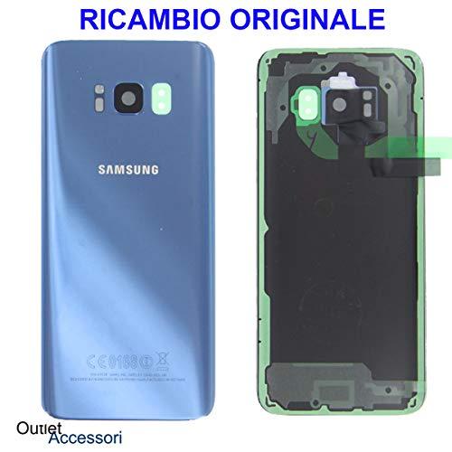 originale Tapa Trasera de Cristal Compatible con Samsung Galaxy S8 Plus S8+ + G955 G955F SM Azul Coral Blue Adhesivo de Doble Cara para cámara de Fotos
