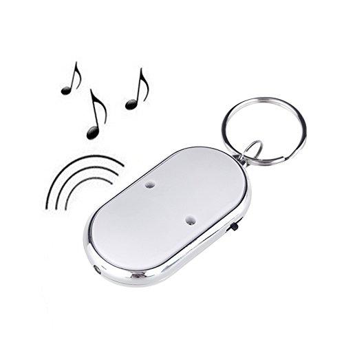 Anself LED-Schlüsselfinder, Suchgerät, Suchfunktion, Schlüsselkette, Pfeife, Tonsteuerung