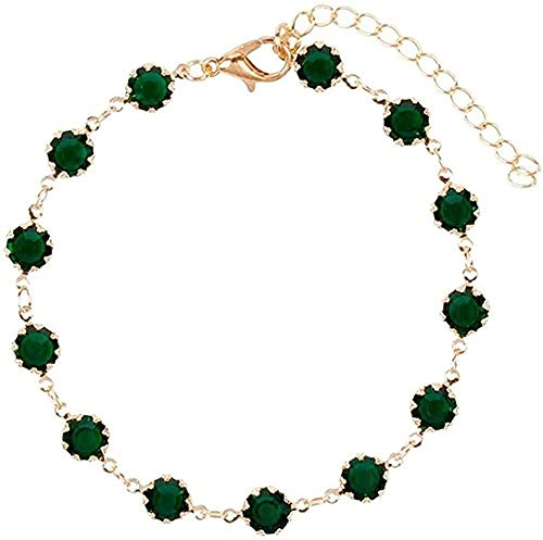 NC110 Necklace Fashion Jewelry Green Zircon Choker Necklace for Women Charm Chain Necklace Handmade Collares