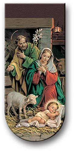 Magnetic Folding Nativity Scene Novena for Christmas Bible Bookmark, 3 Inch
