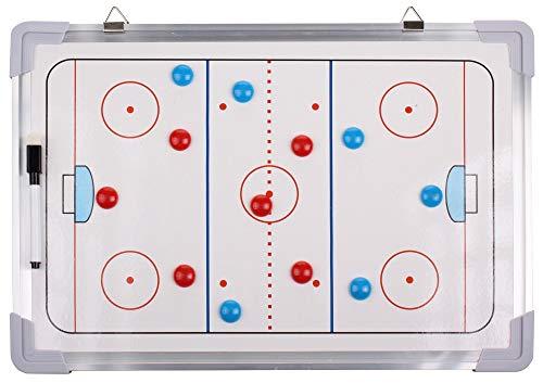 Merco Taktiktafel Eishockey, Taktische Trainertafel magnetisch Coach Board 45x30cm