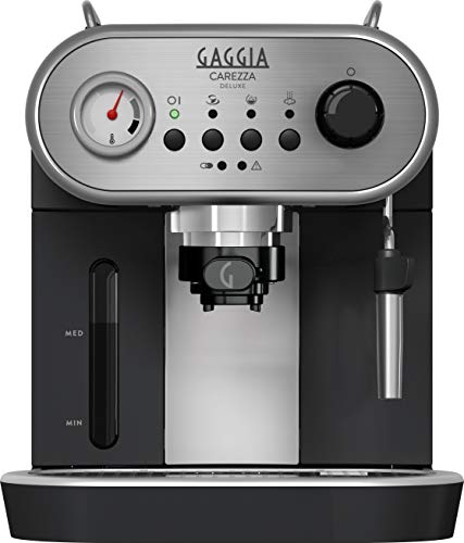 Gaggia Carezza - Cafetera (Independiente, Acero inoxidable,  De café molido,...