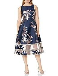 powerful Adrianna Papell Women's Short Jacquard Dress Navy / Brush 16
